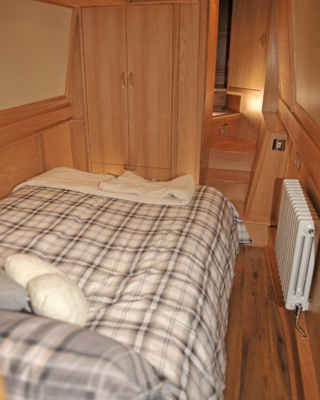The cabin makes use of all available space