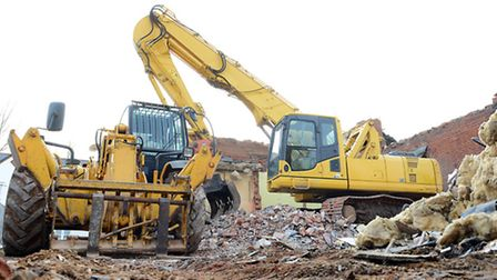 The old school at Mattishall is in the process of being demolished. Picture: Matthew Usher.