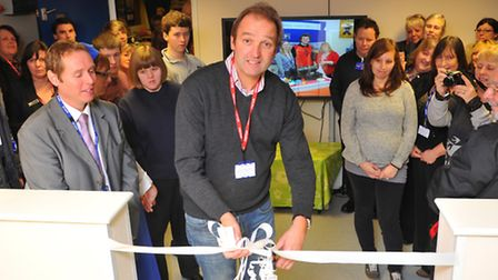 Galton Blackiston at the opening of Harford Manor School's new food technology room at the school.