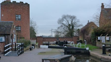 Gailey Lock with the distinctive roundhouse