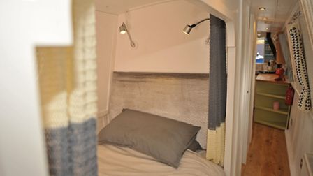 The 'bed box', complete with cosy curtains