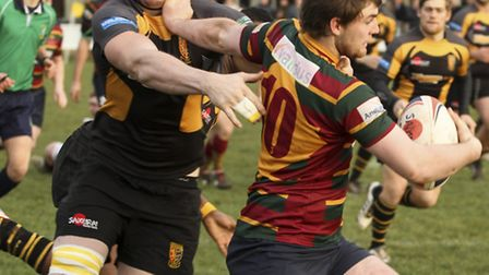 Action from Norwich RFC's 27-24 home defeat to Ipswich at Beeston Hyrne - Dave Micklethwaite. Photos
