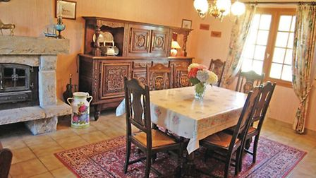 Dining room of NOVASOL cottage in Brittany