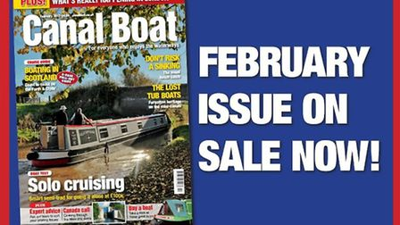 Get the February issue of Canal Boat now!