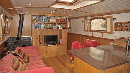 The saloon may be smaller than a standard widebeam, but it's still large enough