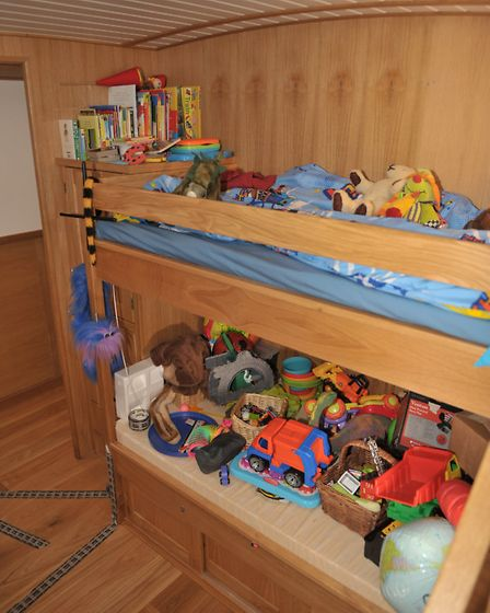 A three-year-old's room, obviously