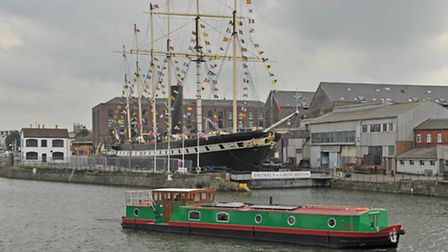 Tulak with the SS Great Britain