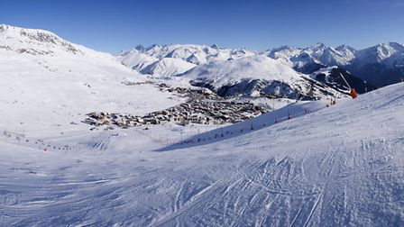 Alpe d Huez in the French Alps © Zelvak / dreamstime