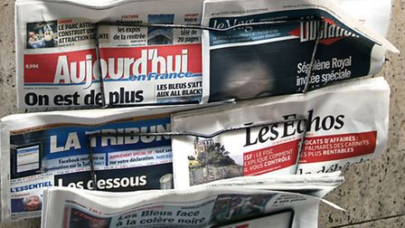 French news headlines © Iropa / Dreamstime