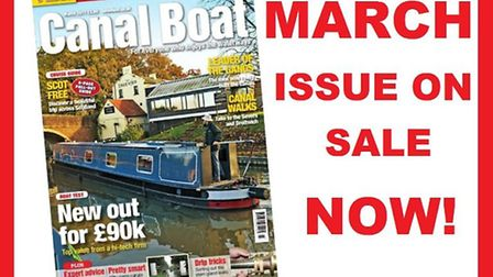 Get the March issue of Canal Boat now!