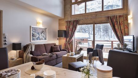 Living room at Le Lodge des Neiges, MGM's new development in Tignes