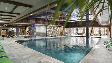 Swimming pool at Le Lodge des Neiges, MGM's new development in Tignes