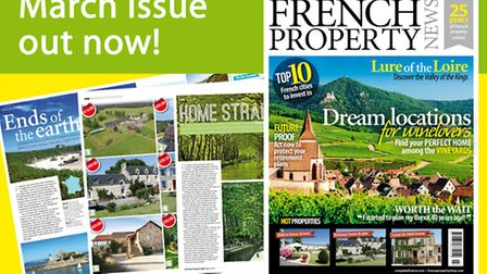 The March 2017 issue of French Property News is now on sale
