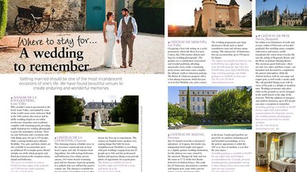 Where to get married in France in the April 2017 issue of France Magazine