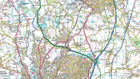 We recommend the Ordnance Survey's Landranger map 150 Worcester & the Malverns to accompany this wal