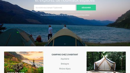 Use Gamping to pitch your tent in someone's back garden in France