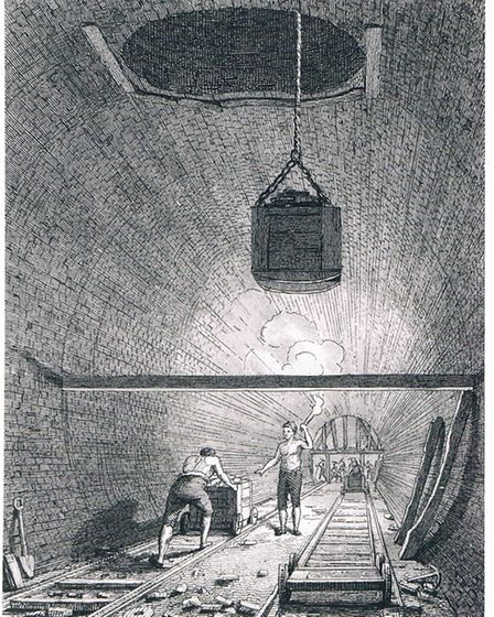 At work in Islington Tunnel