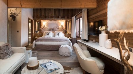 Master bedroom at The Penthouse at Cristal de Jade from MGM French Properties