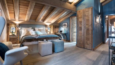 The guest bedroom at The Penthouse at Cristal de Jade from MGM French Properties