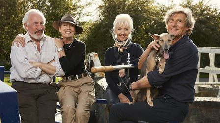 Simon Callow, Lorraine Chase, Debbie McGee and Nigel Havers (image supplied by Channel 5)