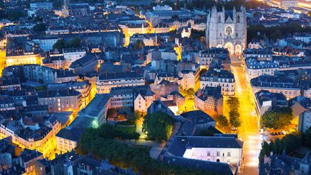 Aerial view of Nantes on a summer night ©SergiyN - Getty Images/iStockphoto