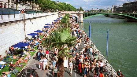 The Paris Plages event takes place on the right bank every summer © Paris Tourist Office Amelie Dupo