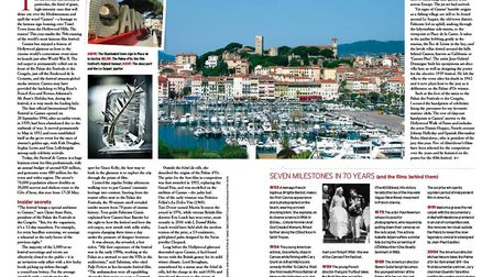 The glitzy resort of Cannes hosts the iconic annual film festival