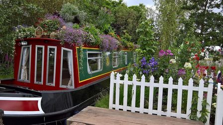 'Boats in Bloom' celebrates plants and flowers on the waterways (photo from Gardeners' World Live 20