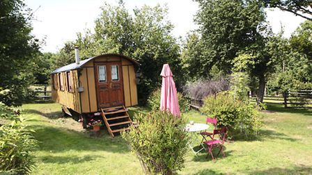 Take camping to the next level in one of the three Roulottes de la Serve