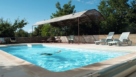 Take a dip in Les Olivettes campsite's solar powered pool in Provence