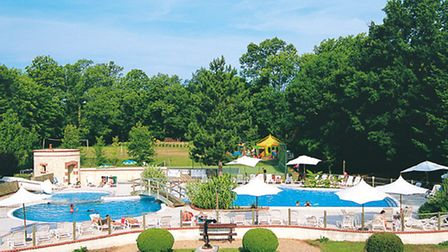 The Chateau des Marais' fun swimming pool and water play area