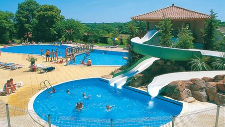 Fun times with La Garangeoire's swimming pools and water slide