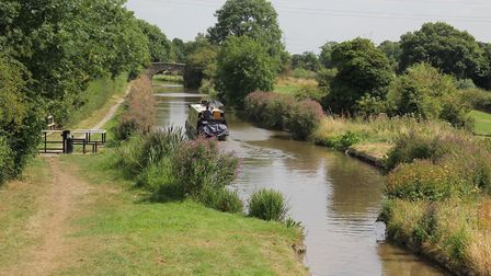 View from along the canal from Marston Junction