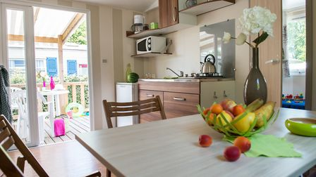With luxury camping you get a fully functioning kitchen © Siblu