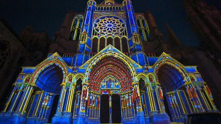 Chartres Cathedral during the Chartres en Lumiere event in 2015 © PtrQs / CC BY-SA 4.0