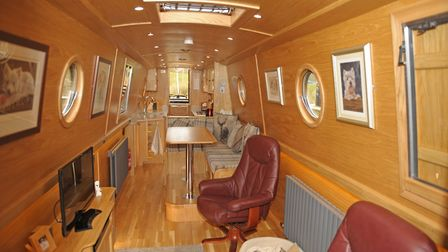Reverse layout works well and provides a central walkway through the boat