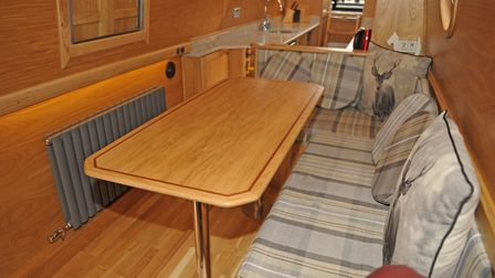 High quality joinery - such as the dining table - is a key feature of the latest fit-out