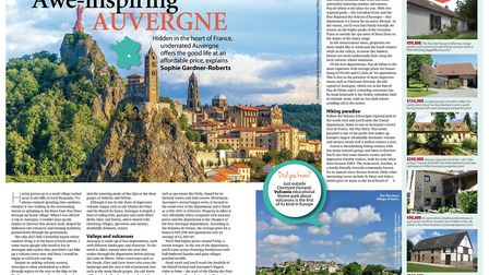 Discover Auvergne in the June 2017 issue of French Property News