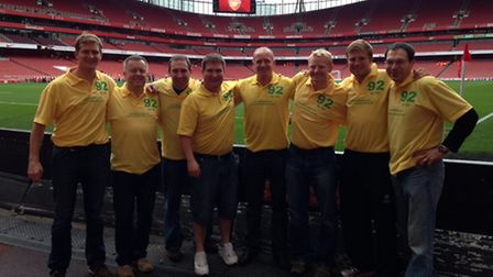 The team who took part in the 92 in 92 challenge