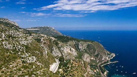 Driving along the Côte d'Azur corniches is both challenging and hugeley rewarding ©ThinkstockPhotos