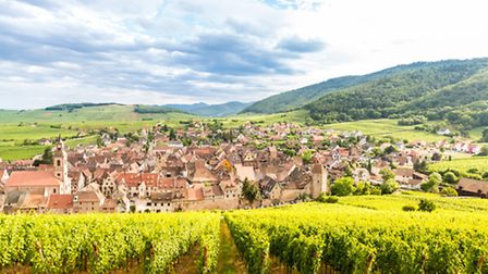 The Alsace wine route takes you through the pretty town of Riquewihr ©ThinkstockPhotos