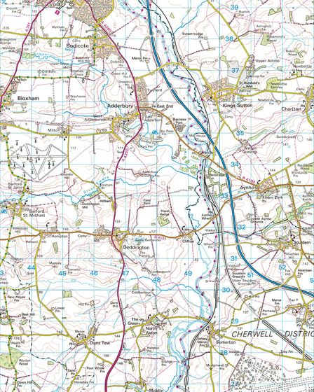 Map Banbury to Heyford. We recommend the Ordnance Survey's Explorer map 191 Banbury Bicester & Chipp