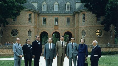 Francois Mitterrand at the G-7 Summit in 1983 via Wikimedia Commons