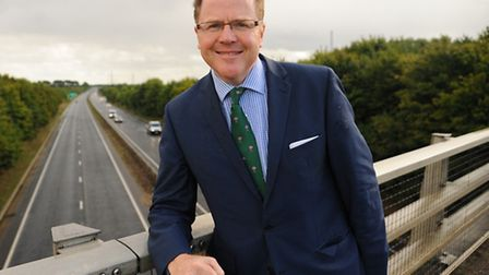 MP George Freeman at the A47. Picture: Denise Bradley