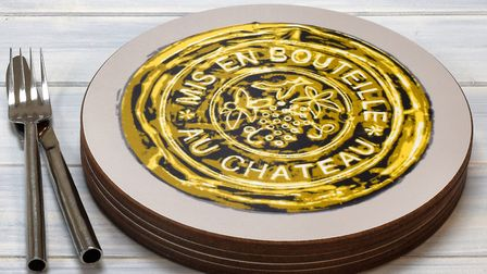 Mis en Bouteille placemats from TopNote Design