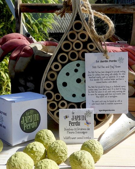 Petit Pod Bee & Bug House and Wildflower Seed Bombs from Le Jardin Perdu
