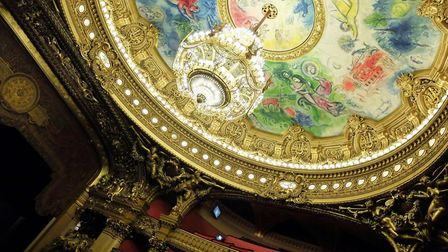 The ceiling fresco by Marc Chagall in the Opéra Garnier ©Pascalgonzalez