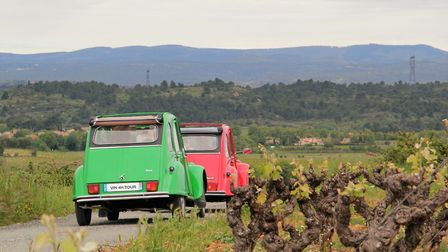 Touring the Aude vineyards by 2CV