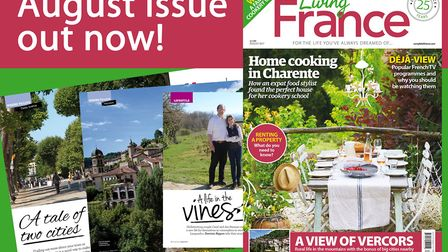 The August 2017 issue of Living France is out now!
