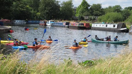 Springfield, busy with rowers and canoes